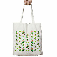 Ireland ALL OVER Shamrock Irish St Patrick Day Shopper Tote Bag Shopping P5