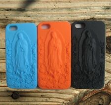 ★ For iphone 5,5S ★ Soft Silicon 3D Mother Mary engraved Back Case Cover(BLUE)