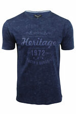 Mens Crew Neck T-Shirt by Brave Soul with Heritage Chest Print
