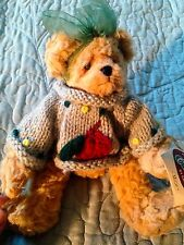 Ganz Cottage Collectibles Mitzie Bear handmade wool sweater NEW NWT Plush stuffe
