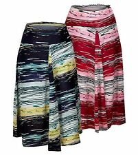 Epilogue Ladies Abstract Lines Pattern Fit & Flare Knee Length Skirt Sizes 10-18