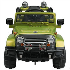 12V Jeep Kids Ride  Battery Power Wheels Electric Car W/Remote Control Green