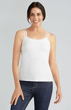 Amoena 'Valletta' Post Surgery Pocketed Mastectomy Strappy Camisole Top - WHITE