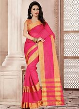 Wama Trendy Art  Cotton silk party wear indian ethnic bollywood replica saree