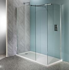 500mm Walk In Shower Enclosure Wet Room Easyclean 10mm Glass Tall Screen Panel