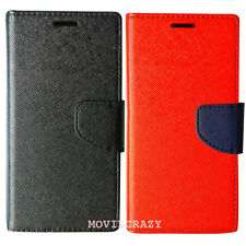 FUNDA LIBRO BOOK FANCY CUSTODIA PARA WIKO UFEEL LITE U FEEL LITE ROJO NEGRO