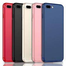 Ultra Thin Dirtproof Silicone Rubber Full Cover Case Skin for iPhone 7