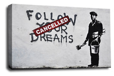 Banksy Canvas Wall Art Picture Various Balloons Hope Peace Maid Spies Rats