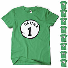 St Patricks Day T Shirt Paddys Day Drunk 1 To 9 Novelty Funny Beer Drinking Tee