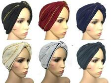 Fashionable Turban hats Hijab, pretty shiny occasion bonnet cap plain chemo