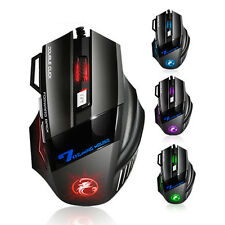Professional Double Click 7 Buttons 3200Dpi Gaming Mouse Usb Wired Optical Compu
