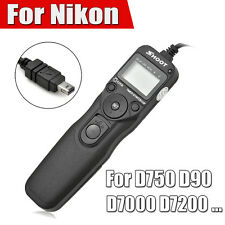 Shoot Timer Remote Control Shutter Release Cable Intervalometer For Nikon D750 D
