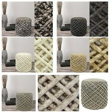 Taburete cubo-asiento beistellhocker Puff hecho a mano 100% Material Natural
