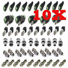 10X CAT5 A COASSIALE CCTV FOTOCAMERA TV ALIMENTAZIONE VIDEO BALUN BNC CAVO