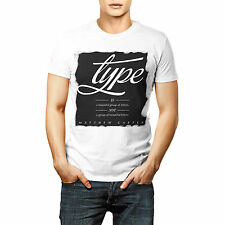 Type Is Group Of Letters Printed Quote T shirt Sports Wear White Round Neck