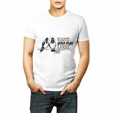 Make Your Own Luck Printed T shirt Sports Wear White Round Neck