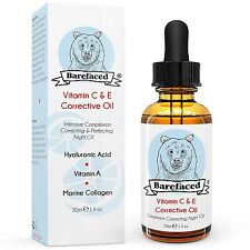 BeBarefaced Vitamin E Face Oil Facial Vitamin C Night Serum With Hyaluronic