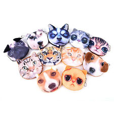 New Cute Cat Face Zipper Case Coin Purse Female Wallet / Child Purse Makeup Bugg