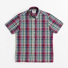 Brutus 3401-302 Trimfit red madras check short sleeve shirt sizes small-2XL
