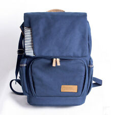 Ladies Mens Casual Blue Canvas Backpack Outdoor Camera Bag Tour Packages Bags JJ