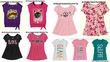 NEW GIRLS Old Navy FadedGlory Babydoll 2Fer Short Sleeve Graphic Top Shirts 4-16