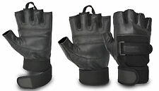 Leather Weight Lifting Gloves Gym Training Body Building Fitness Cycling Driving