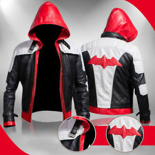 Batman Arkham Knight Game Red Hood Black Leather Hi-Quality Jacket