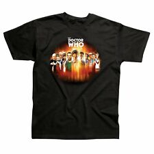 Official BBC Doctor Who 50th Anniversary 11 Doctors Black Adult T-Shirts - NEW