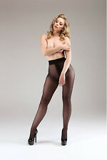 CROTCHLESS OPEN CROTCH GUSSET FREE SEXY 15 DENIER LUXURY ITALIAN SHEER TIGHTS