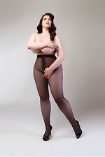 CROTCHLESS OPEN CROTCH GUSSET SEXY 50 DENIER OPAQUE TIGHTS PLUS SIZE XL XXL XXXL