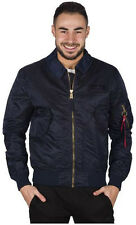 Alpha Industries CWU LW PM Lightweight Flight Bomber Jacket | Blue & Black