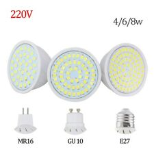 LED Spotlight GU10 E27 MR16 Led Lamp 8W 4W 6W AC 220V 3528SMD