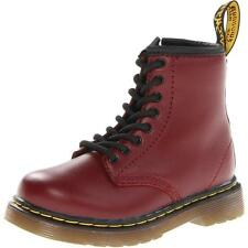 Dr Martens Brooklee Infant Cherry Red Leather Ankle Boots