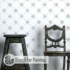 FLEUR DE LYS TRELLIS French Wall Stencil - Wall Stencil for Painting