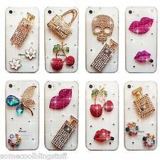 3D BRILLANTE LUJOSO DIAMANTE MONEDERO FUNDA 4 SAMSUNG iPHONE SONY HTC 5 5S 6