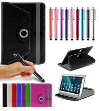 "For Archos Internet Tablet (10.1"") Tablet Case 360 Rotating Stand Wallets + Pen"