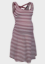 Fashionably Pregnant Summer Maternity Red Stripe Dress Holiday size 10 12 14 16
