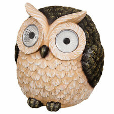 Garden Owl with Solar Light Eyes- Garden decorative Statue