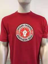 Wigan Casino 2089 blood red short-sleeved T-shirt size medium-3XL