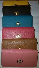 Women Lady Bowknot Faux Leather Clutch Wallet Long Coin card holder Purse Bag