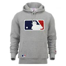 New Era Major League Baseball Logo Hoodie MLB Sweatshirt Grau