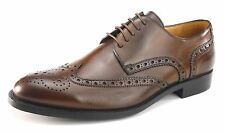 Mercanti Fiorentini Kenia 5792 Brown Leather Wingtip Mens Brogue Brandy Shoes