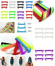 12 pcs Elastic Silicone No Tie Lazy Shoe Laces Shoelaces Alternative To HICKIES