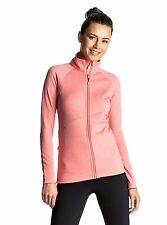 Roxy Daily Run Ladies Zipped Top in Shell Pink
