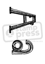 A7 'Lowercase A' Unmounted Rubber Stamp (SP00002385)