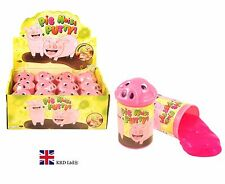 PIG NOISE PUTTY TUBS Silly Jokes Toy Tricks Fart Noisy Party Bag Filler Toys UK