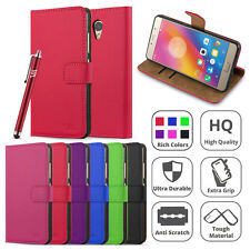 Lenovo P2 Case Flip Wallet Leather Book Card Slots Stand Case Cover Screen Guard