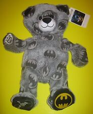 New Build-A-Bear UNSTUFFED Gray BATMAN BAT MAN TEDDY Plush