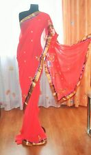 Sari Saree India Bollywood Salwar Kameez Matrimonio Abito In Chiffon