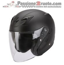 Casco jet moto maxi scooter Scorpion Exo 220 negro mate